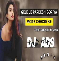 GELE JE PARDESH GORIYA MOKE CHHOID KE (THETH NAGPURI DJ 2021) DJ ADS